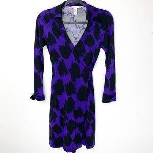 Diane Von Furstenberg Jeanne Purple Wrap Dress